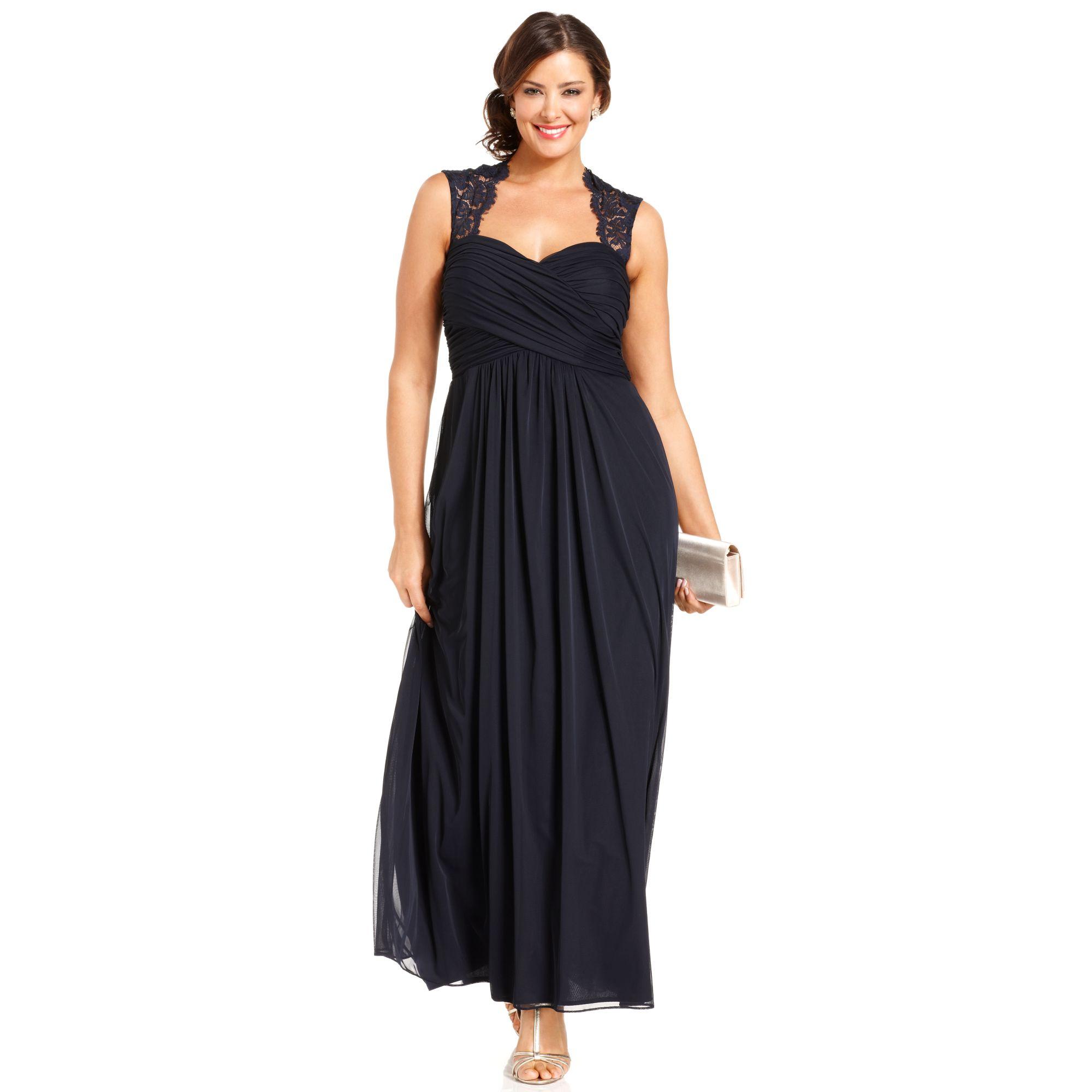 Xscape Xscape Plus Size Dress Sleeveless Laceback Empirewaist in ...