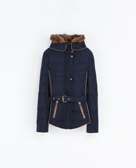 Details about Armani Jeans Women s Hooded Quilted Jacket Navy