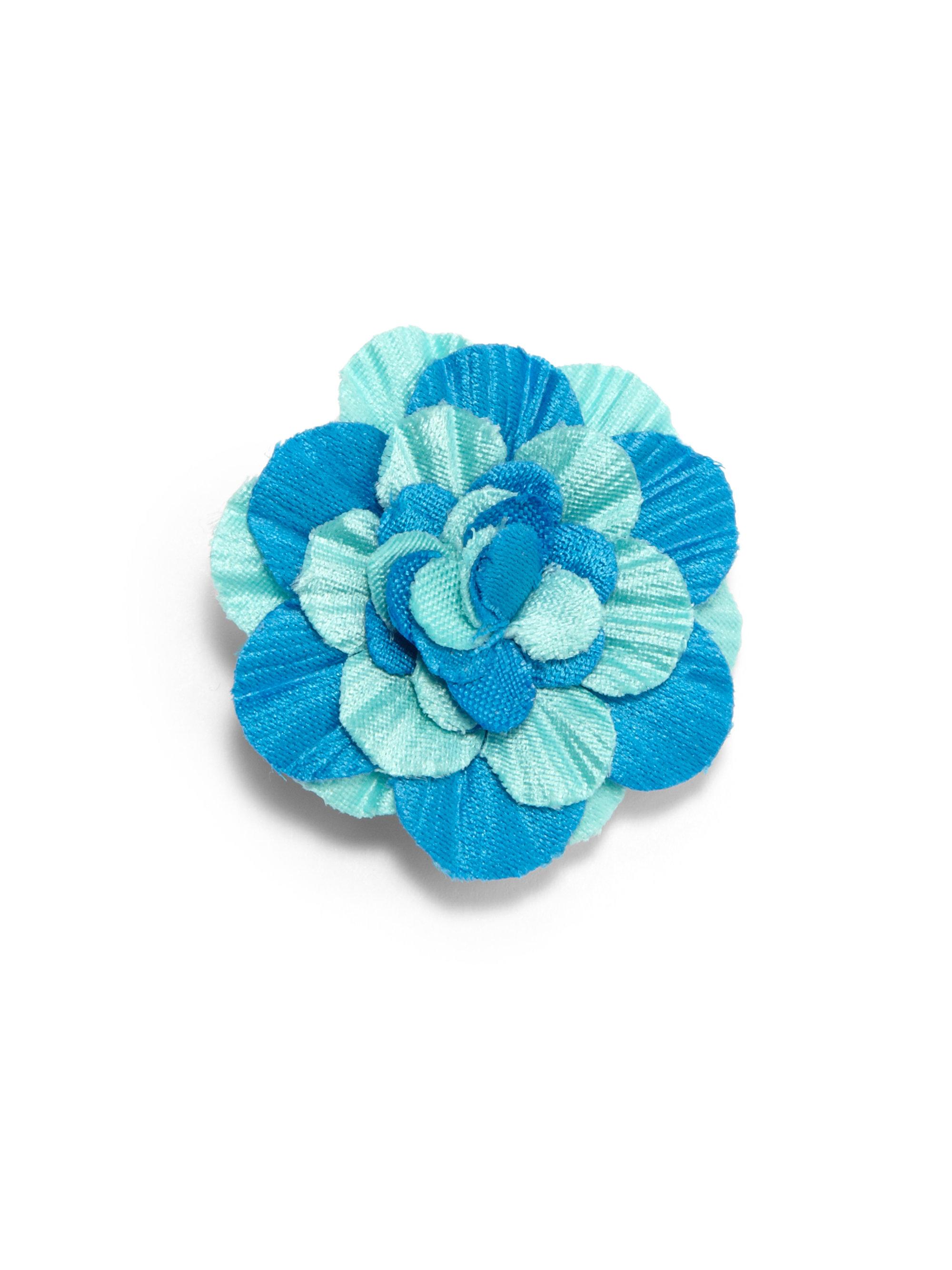Hook Albert Lapel Flower Pin in Blue