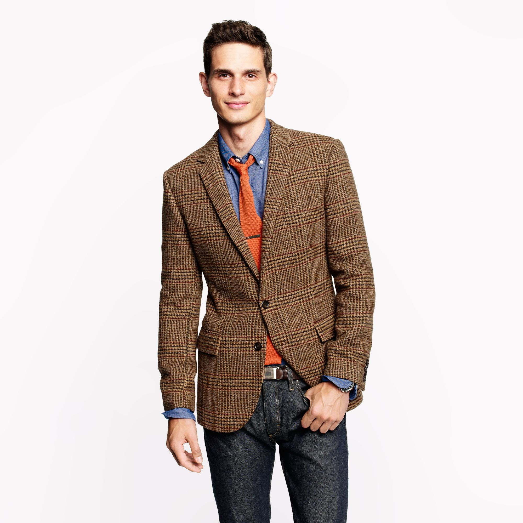 Ludlow sportcoat in english glen plaid brown wool for Jcrew com