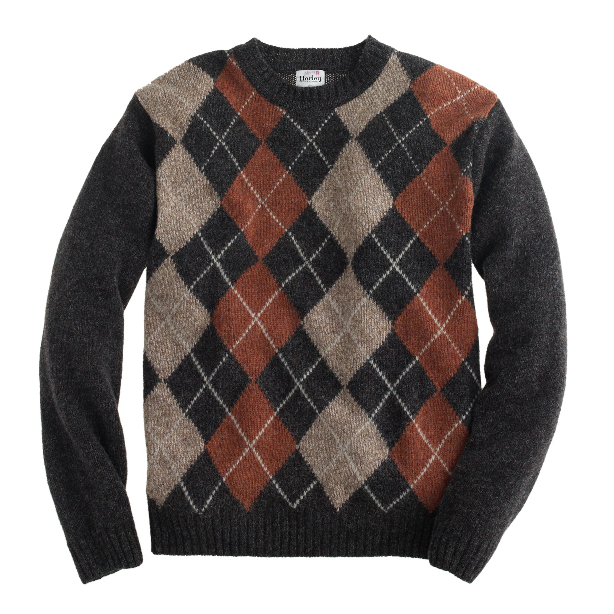 J.crew Harley Argyle Sweater in Brown for Men | Lyst