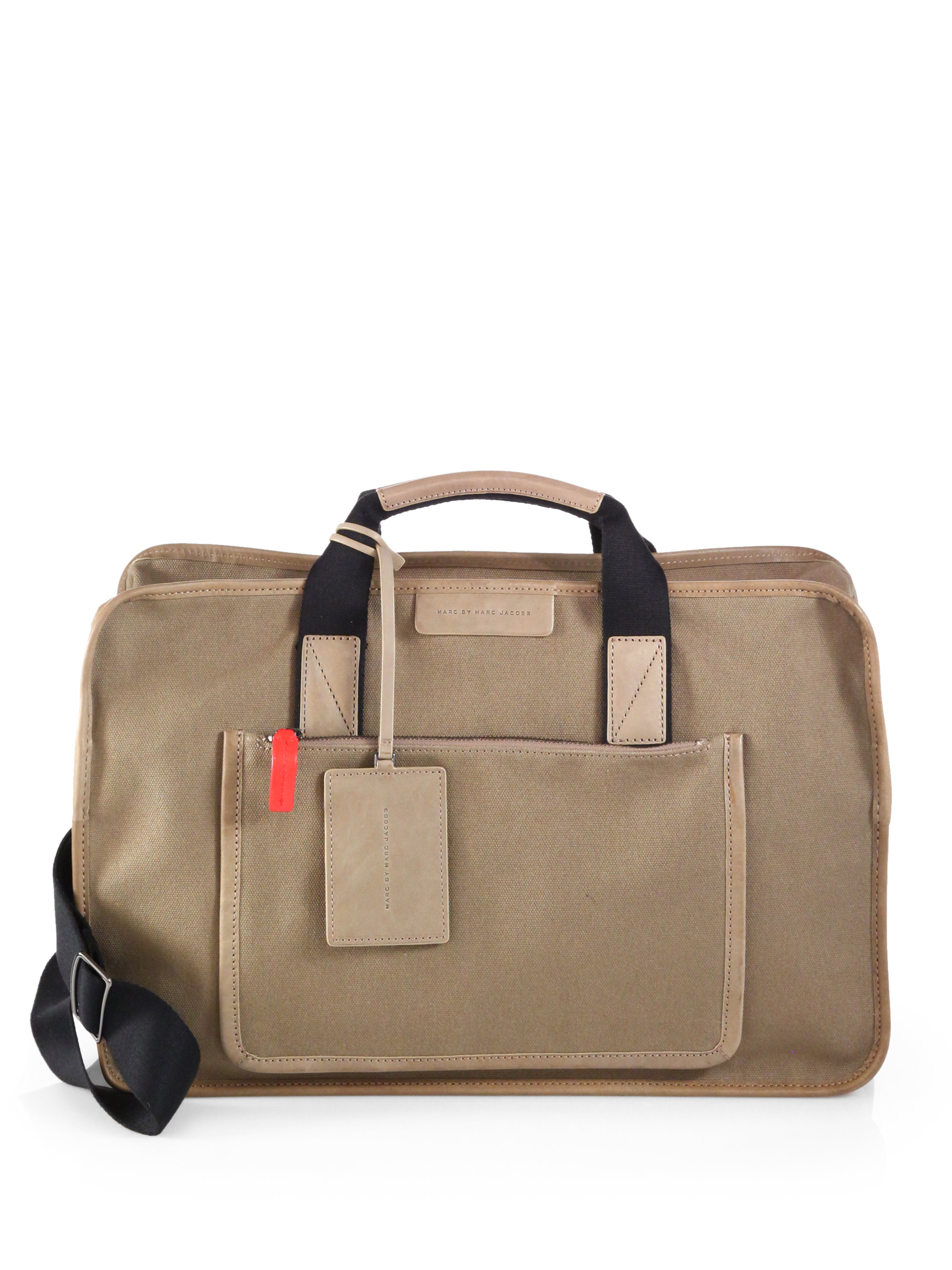 938c7df1ff Lyst - Marc By Marc Jacobs Leather-Trimmed Waxed Canvas Duffel Bag ...