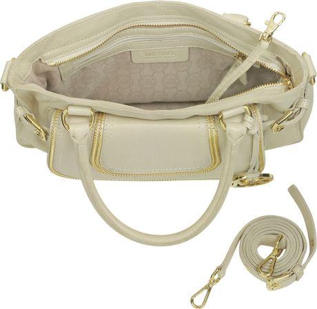 Buy Michael Kors Naomi Satchels - Bags Michael Kors Naomi Vanilla Leather Medium Satchel