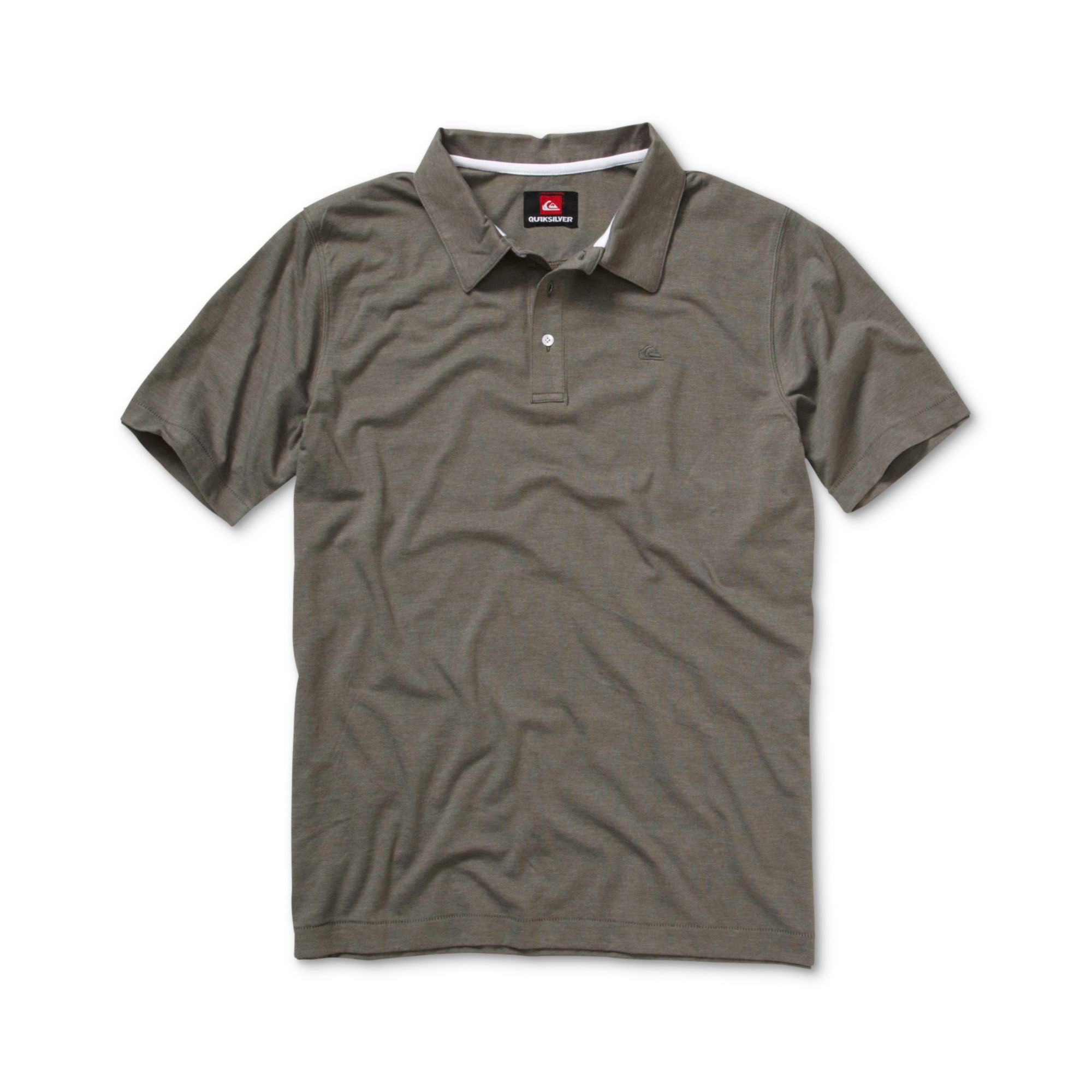 Quiksilver Sea Port Short Sleeve Polo Shirt In Gray For