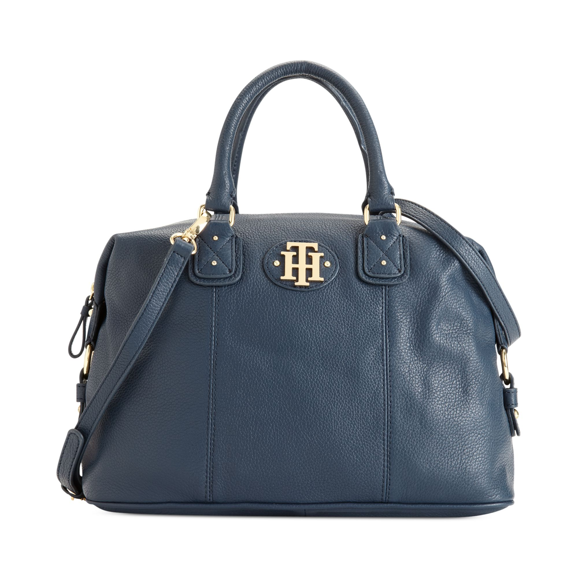 Innovative Tommy Hilfiger Women39s Fabienne Leather Square Tote Bag  Midnight