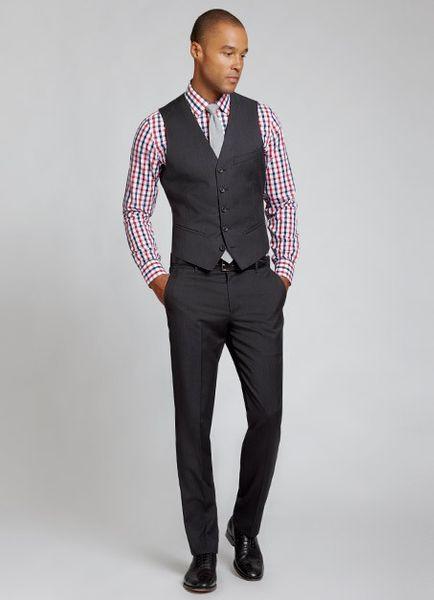 Charcoal Grey Suit Vest
