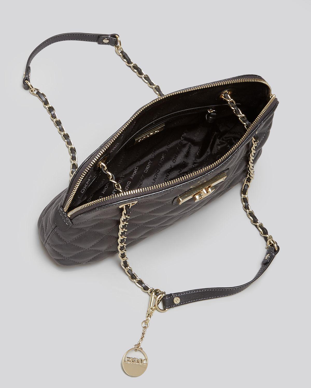 Lyst - Dkny Shoulder Bag - Gansevoort Quilted Adjustable in Black : dkny black quilted purse - Adamdwight.com