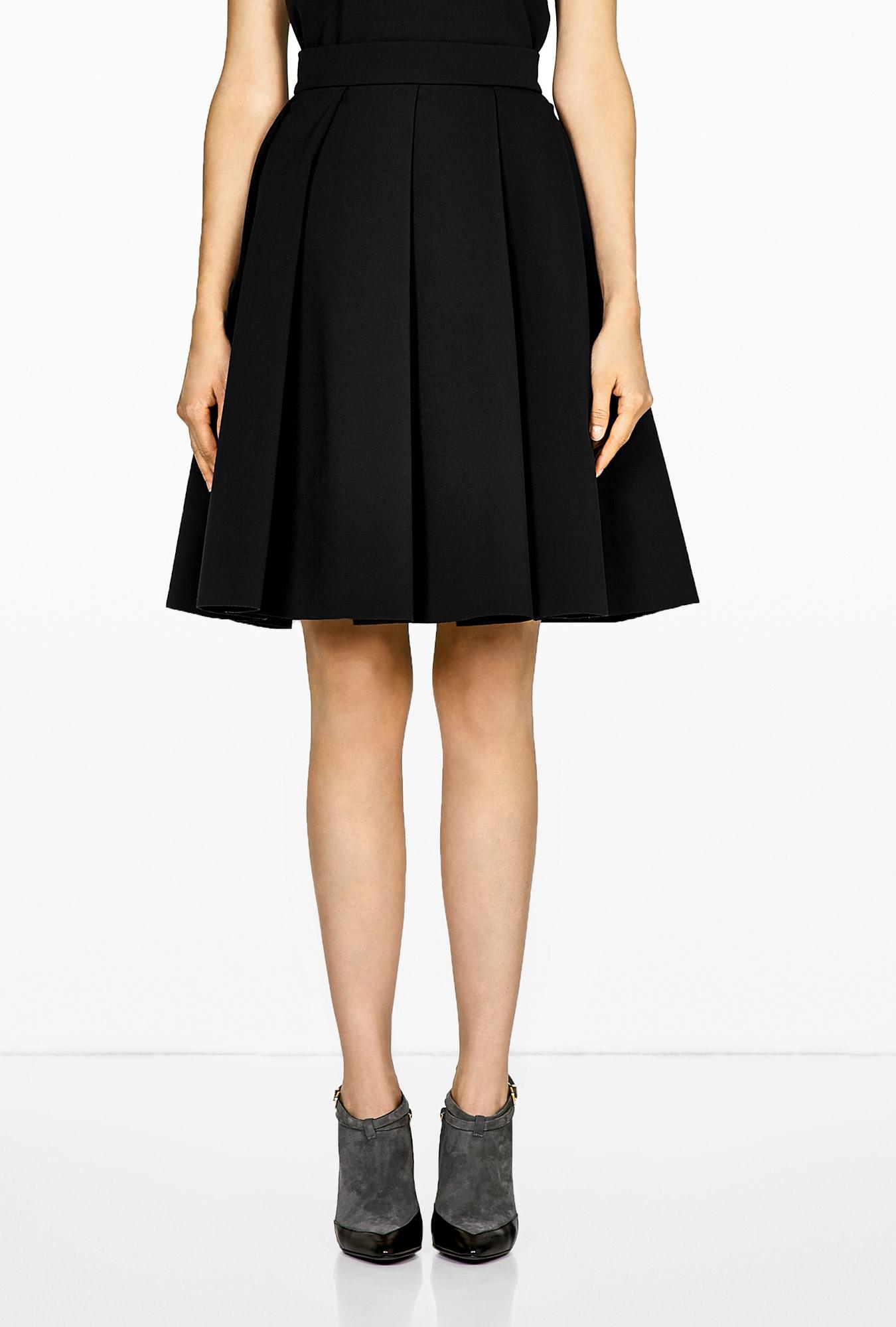 pleated a line skirt redskirtz