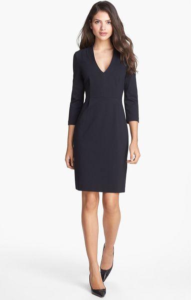 Kate spade darlene stretch sheath dress in black lyst
