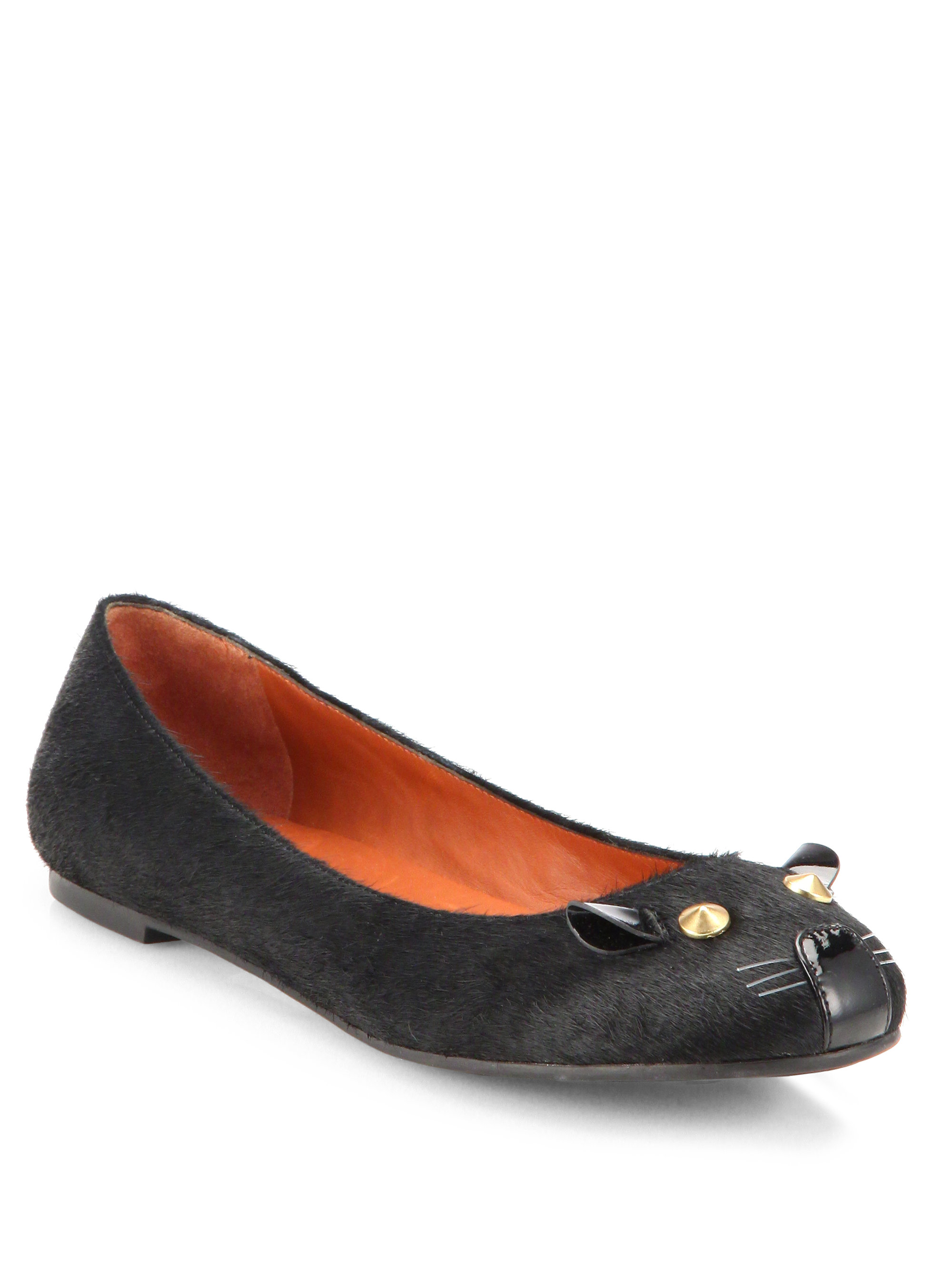 Lyst Marc By Marc Jacobs Pony Hair Mouse Ballet Flats In