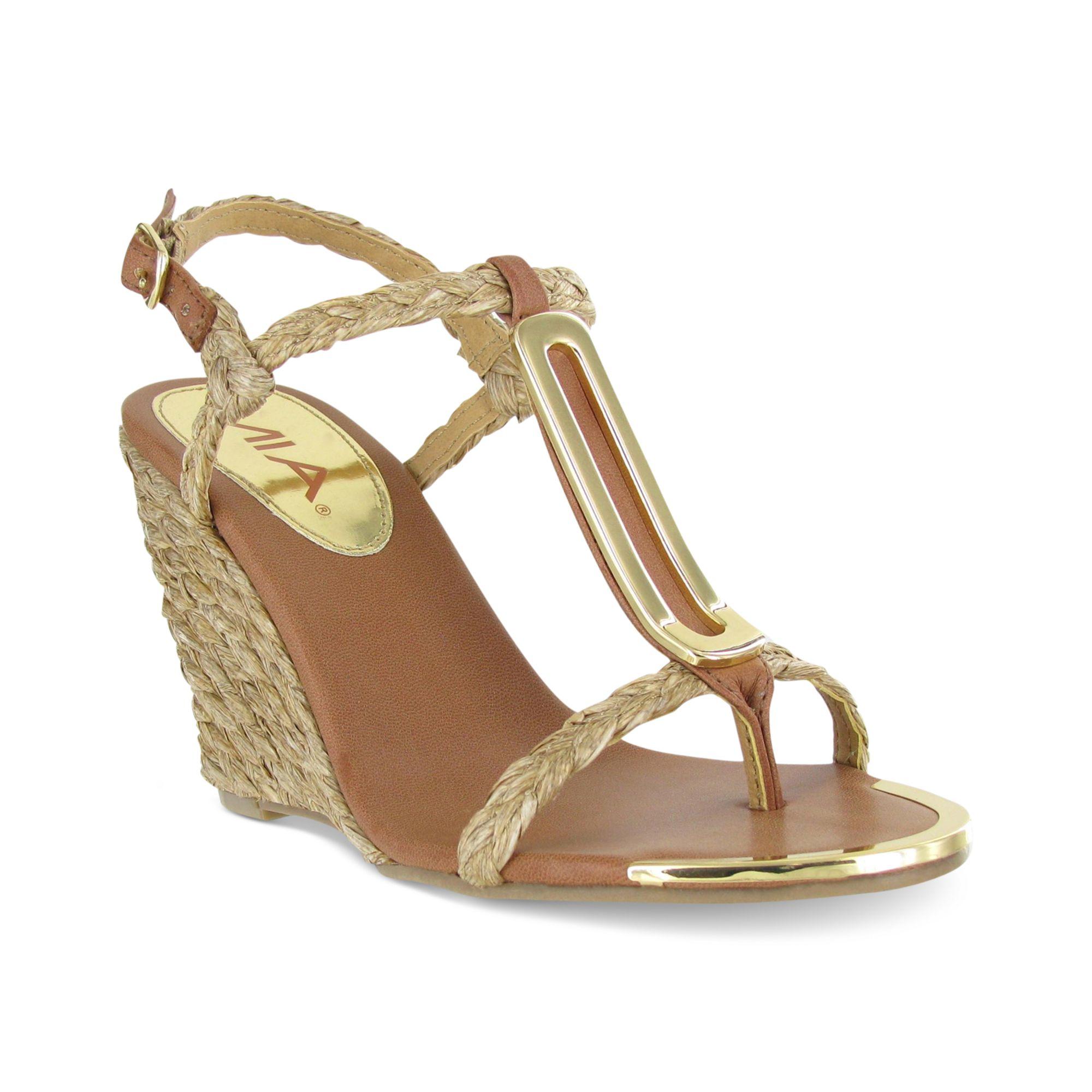 Lyst Tiffany Sandals Natural In Mia Wedge ErCxWBdoQe