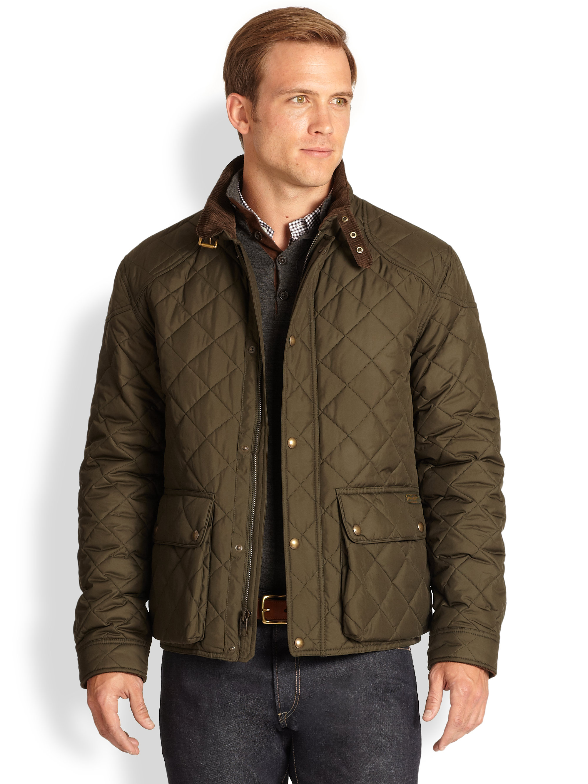 Polo ralph lauren Cadwell Quilted Bomber Jacket in Green for Men