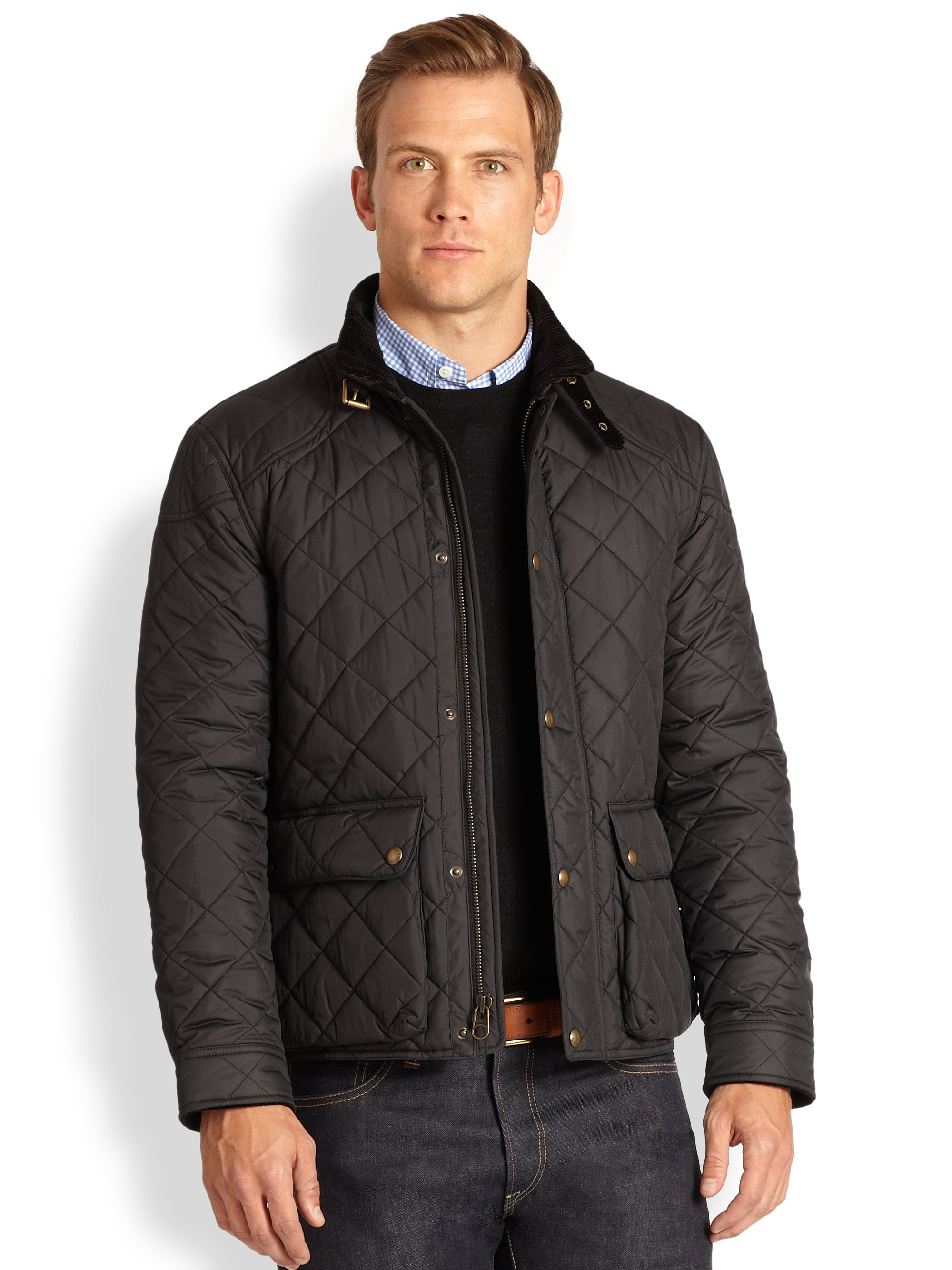 Lyst Polo Ralph Lauren Cadwell Quilted Bomber Jacket In Black For Men