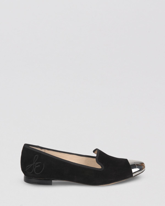 c832aac01 Lyst - Sam Edelman Cap Toe Smoking Flats Aster in Black