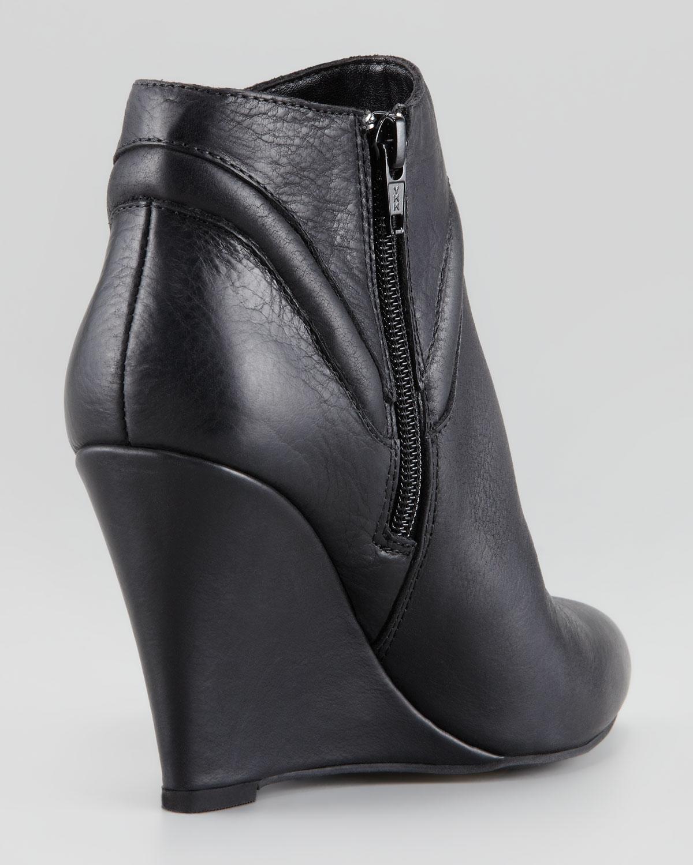 Lyst - Seychelles Wont Wait Leather Wedge Bootie Black in Black 60029d2d86fa