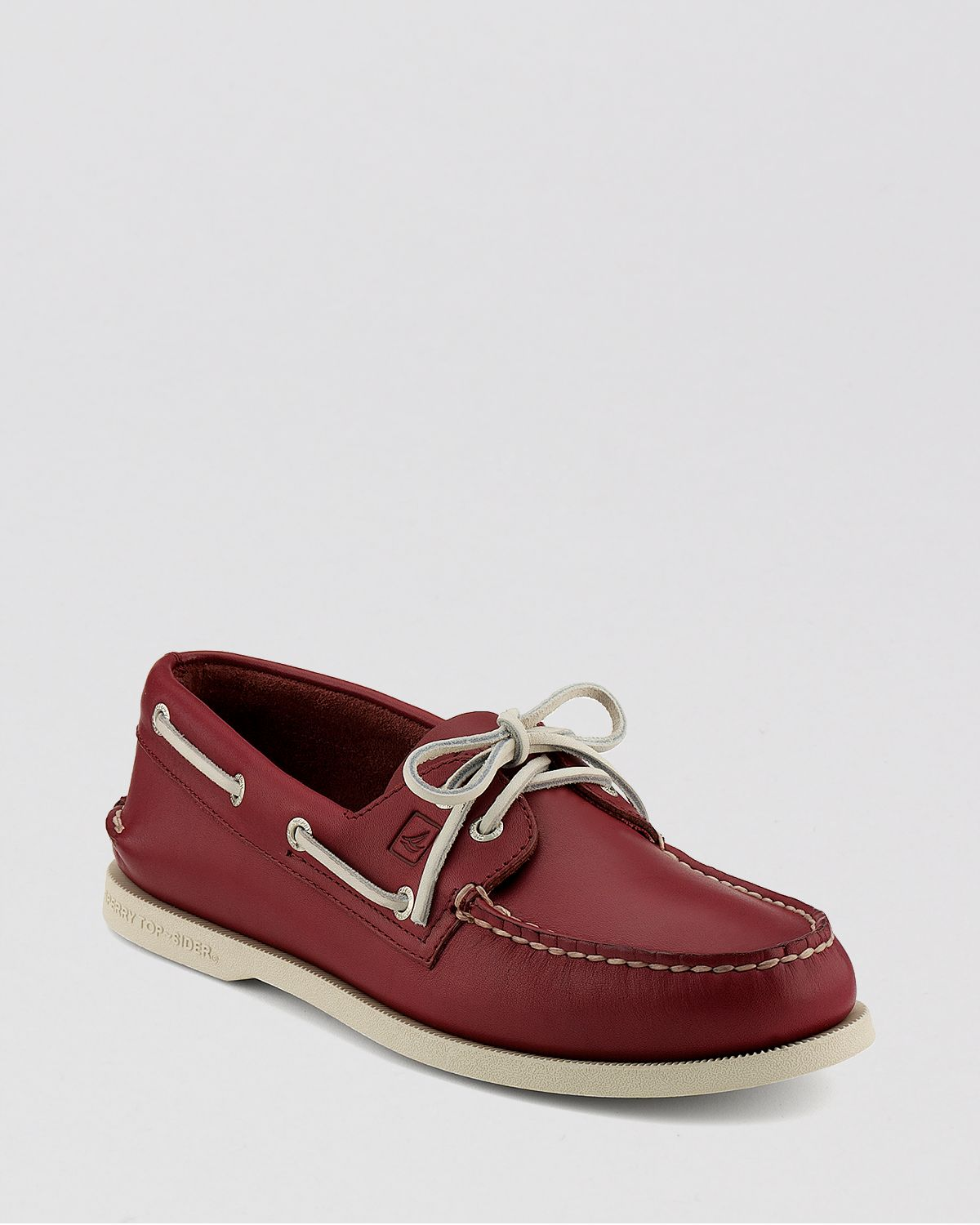 3151caf9c2b Sperry Top-Sider Ao Leather Boat Shoes in Red for Men - Lyst