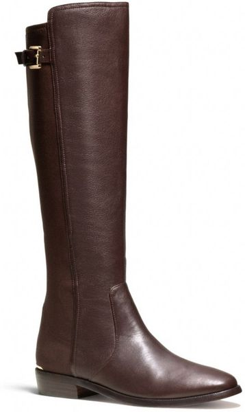 coach lilac boot in brown chestnut chestnut lyst