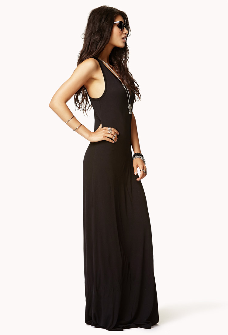 Forever 21 Knit Maxi Dress In Black Lyst