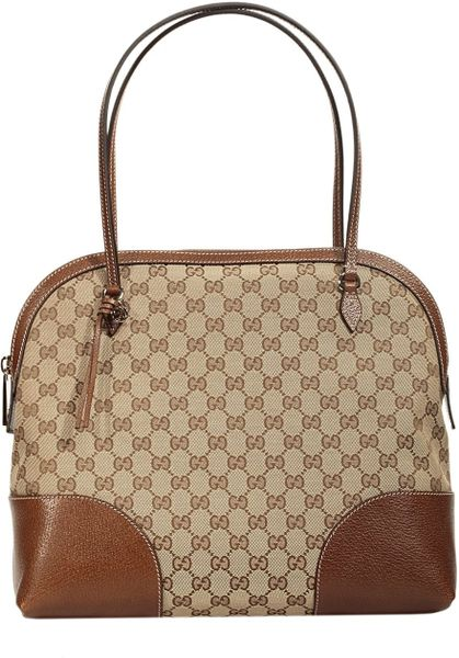 Gucci Bag Bree Dome Gg Leather in Brown (beige)