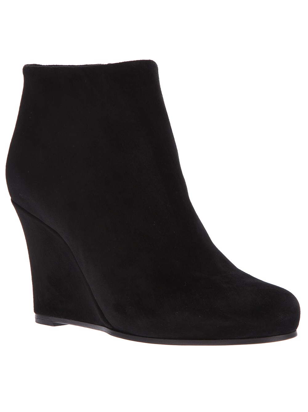 jil sander wedge ankle boot in black lyst