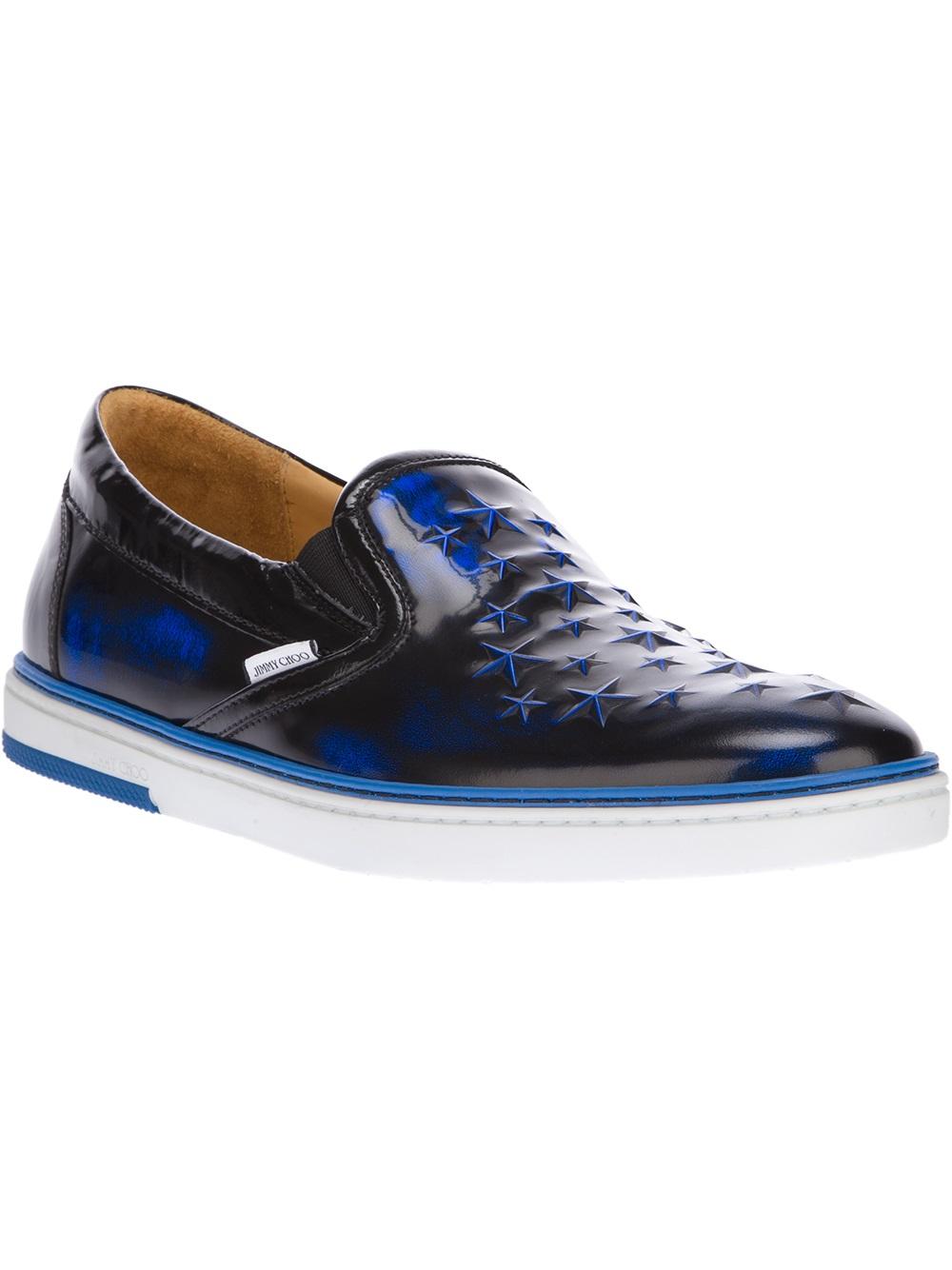 jimmy choo groove slip on sneaker in blue for men lyst. Black Bedroom Furniture Sets. Home Design Ideas