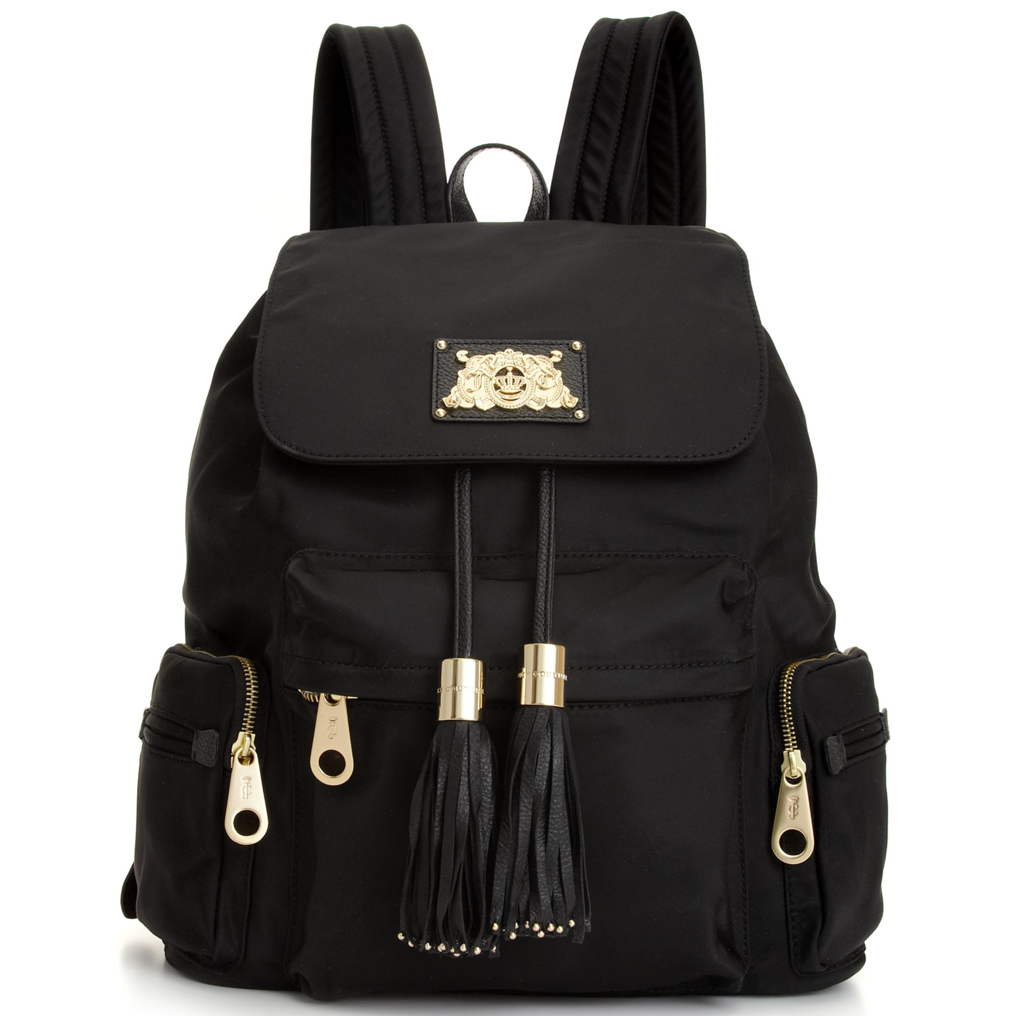 lyst juicy couture nylon backpack in black