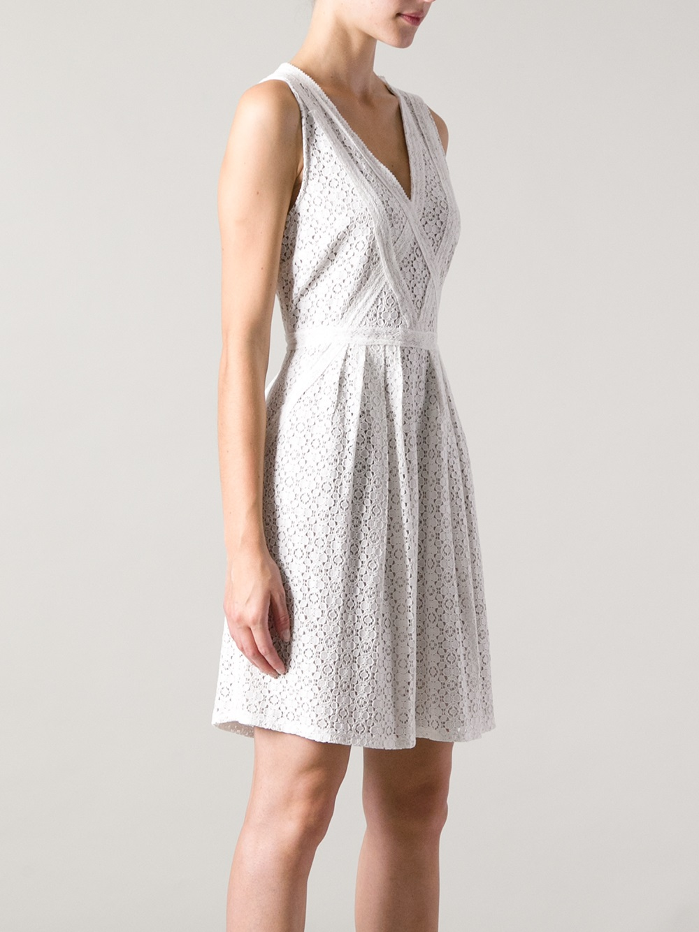 Lyst Marc By Marc Jacobs Broderie Anglaise Dress In White