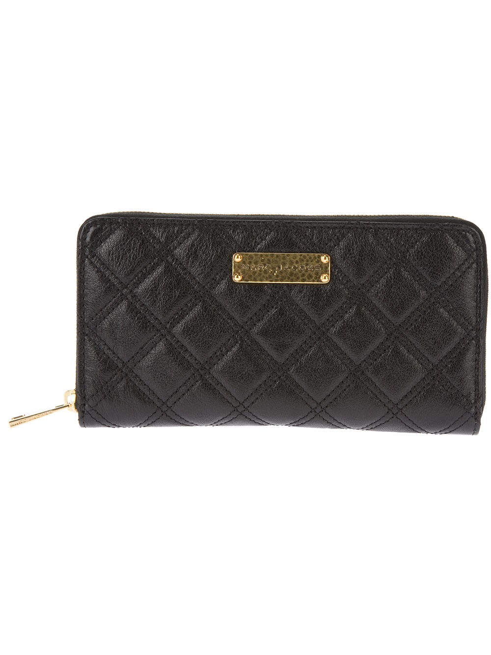 Marc Jacobs The Sister Quilted Wallet in Black