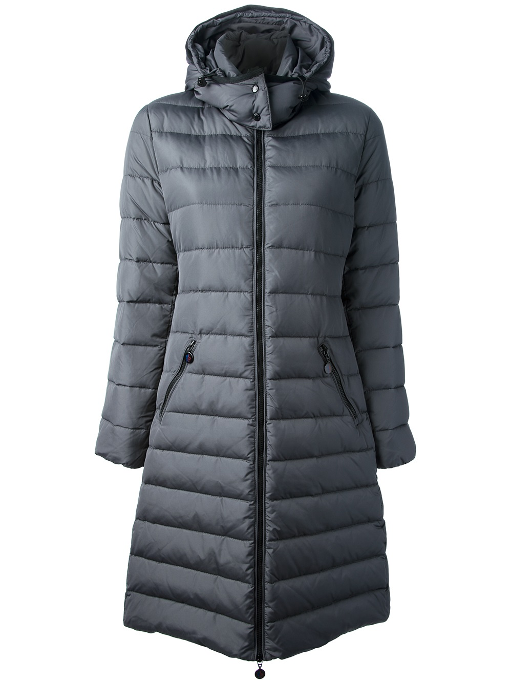 Moncler Mokacine Feather Down Coat in Gray | Lyst