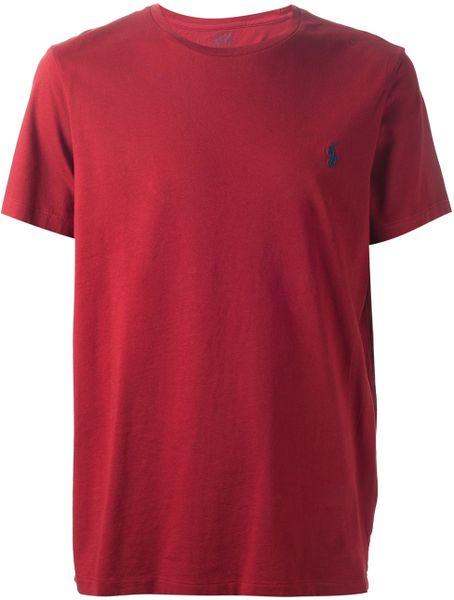 polo-ralph-lauren-red-cotton-crew-neck-tshirt-product-1 ...