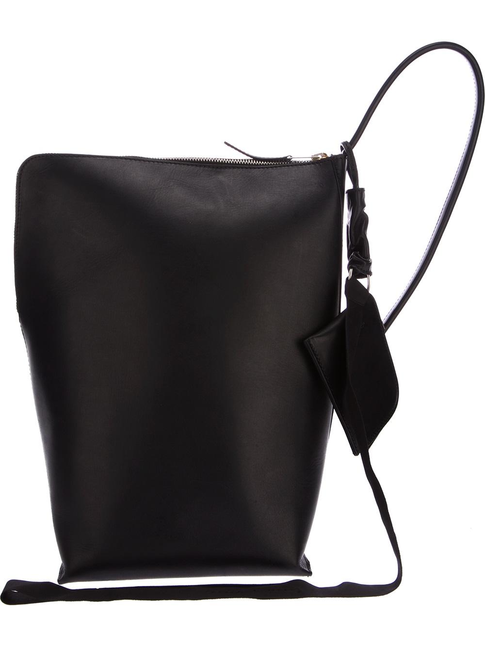 Lyst Rick Owens Single Strap Backpack In Black