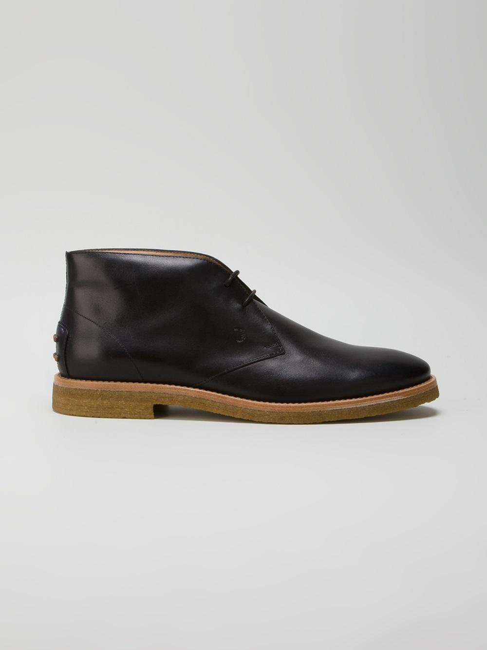 tod 39 s no code desert boots in black for men lyst. Black Bedroom Furniture Sets. Home Design Ideas