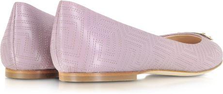 Versace Ballerina Shoes Leather Ballerina Shoe in