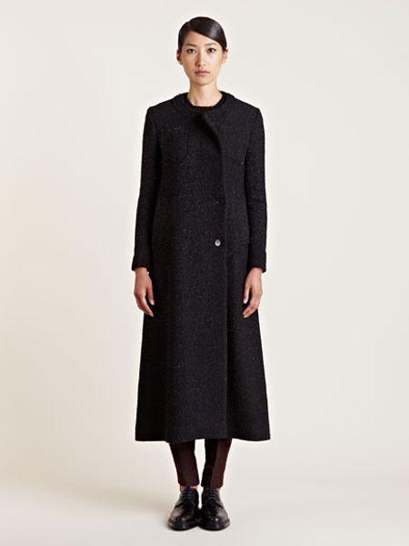 Yang Li Womens Tailored Long Coat In Black Lyst
