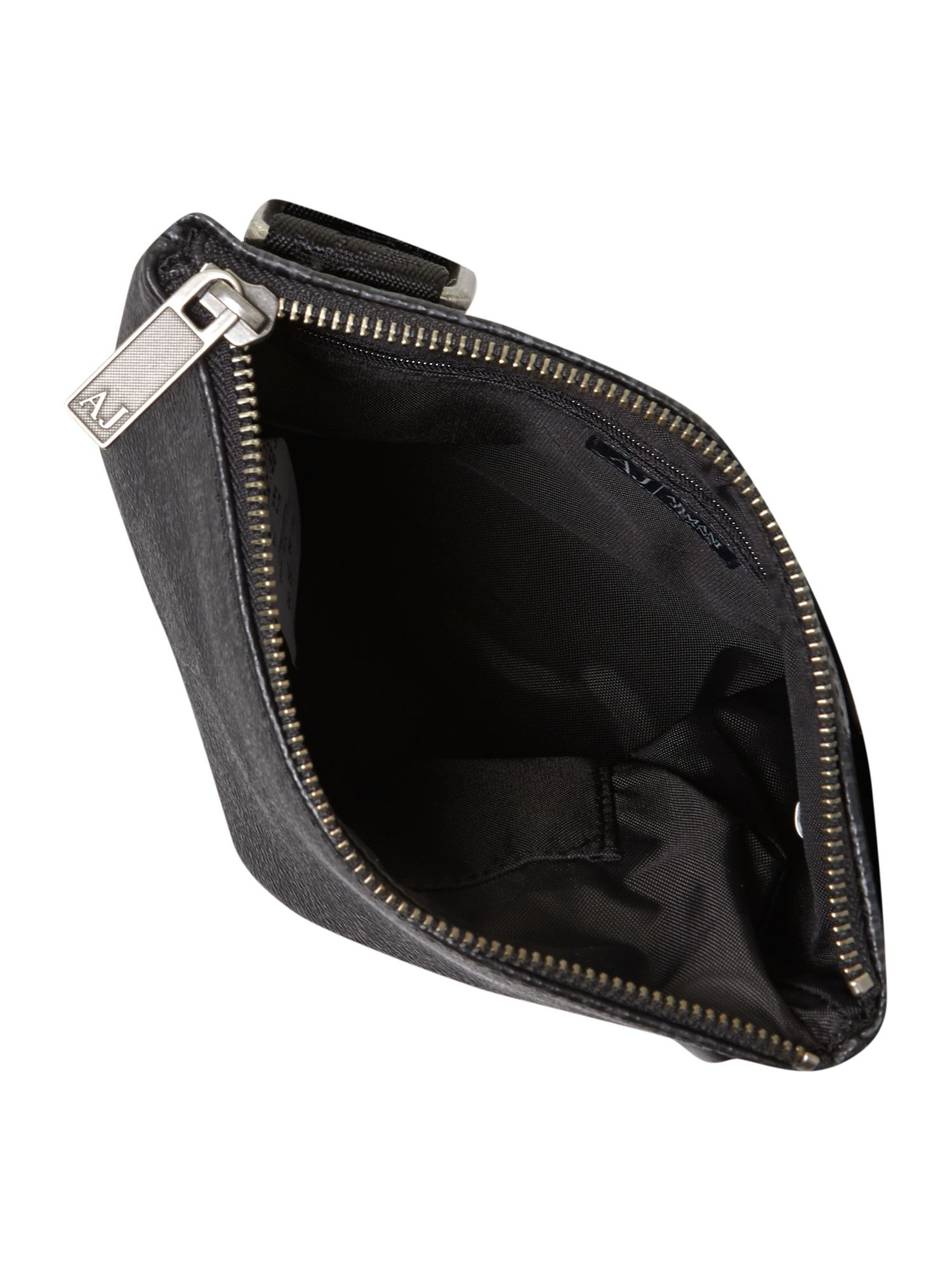 armani jeans nylon man pouch bag in black for men lyst