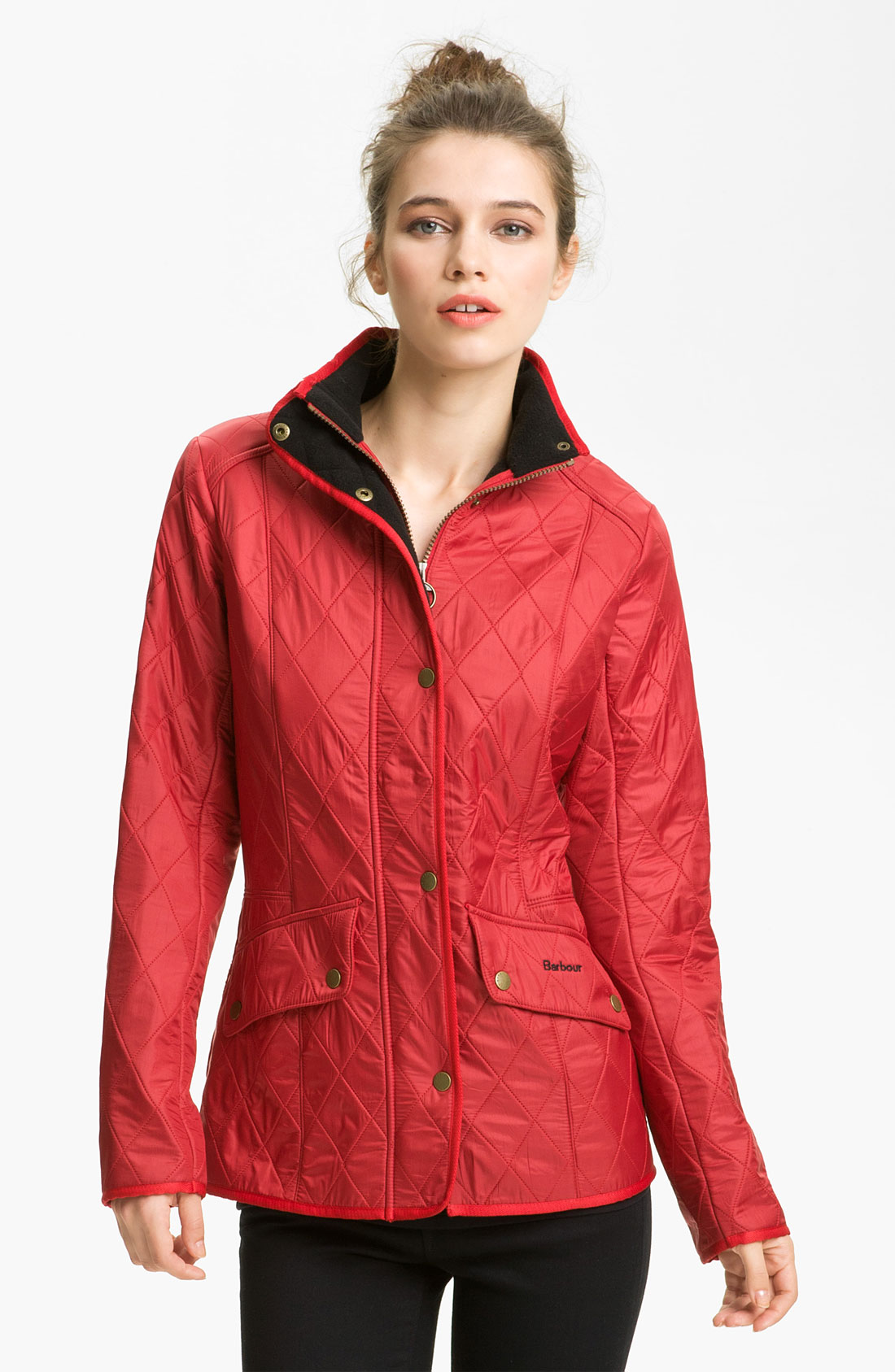 Lyst Barbour Cavalry Quilted Jacket In Red