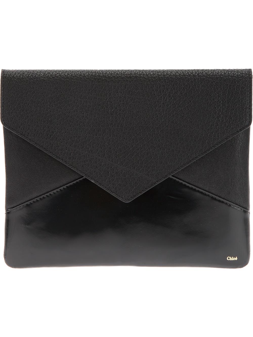 Chlo 233 Envelope Clutch In Black Lyst