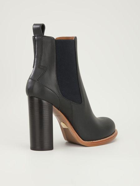 chlo 233 high heel chelsea boot in black lyst