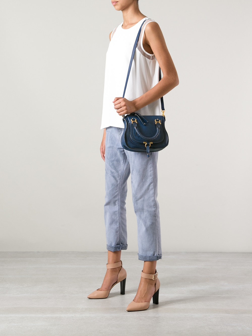 9f6ed898ce4d Lyst - Chloé Marcie Mini Shoulder Bag in Blue