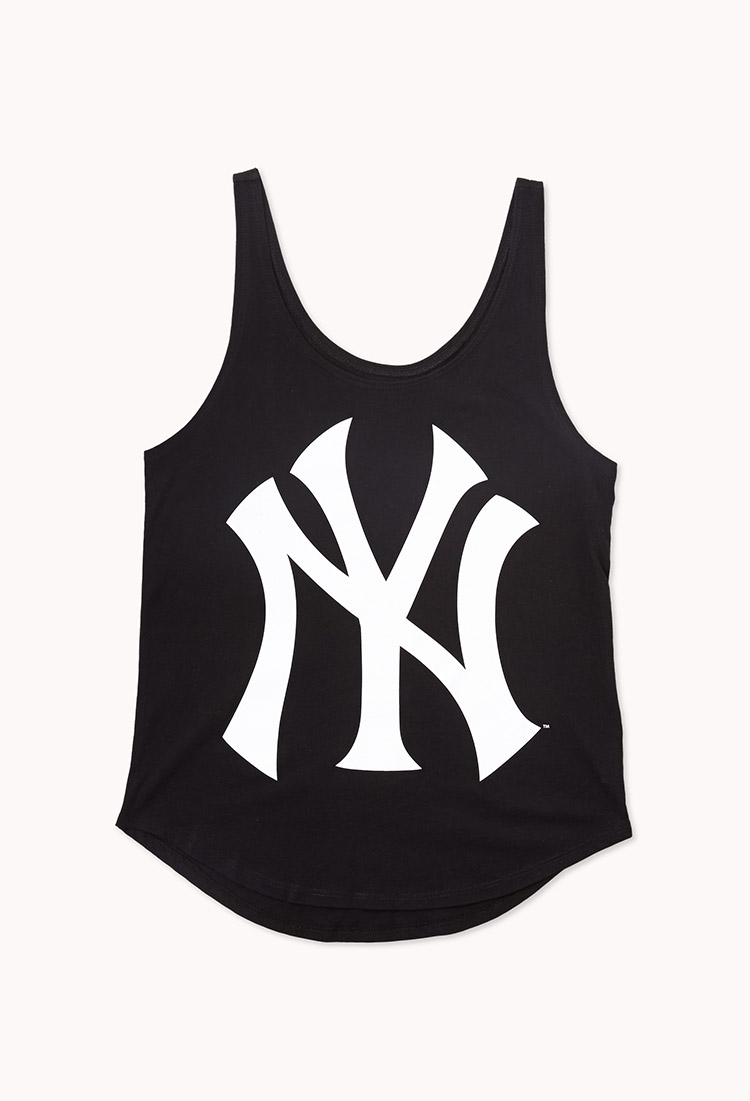 Lyst forever 21 ny yankees tank in white gallery biocorpaavc
