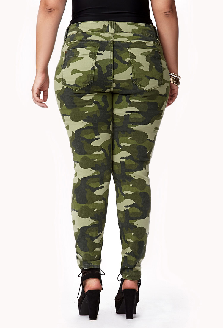 Innovative Forever 21 Desert Camo Harem Pants In Green (OLIVE/BLACK ...