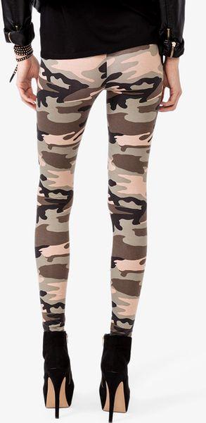 Model Forever 21 | Beige Drawstring Camo Print Pants For Men | Lyst