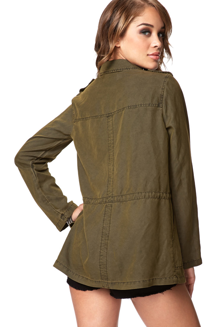 Utility Jacket Jackets And Nike: Forever 21 Utility Jacket In Green