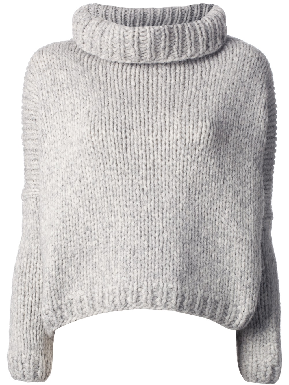Lyst - Jo no fui Chunky Knit Sweater in Gray