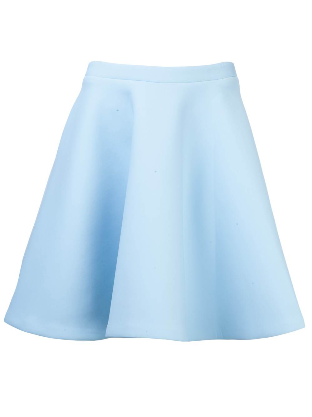 msgm circle skirt in blue lyst