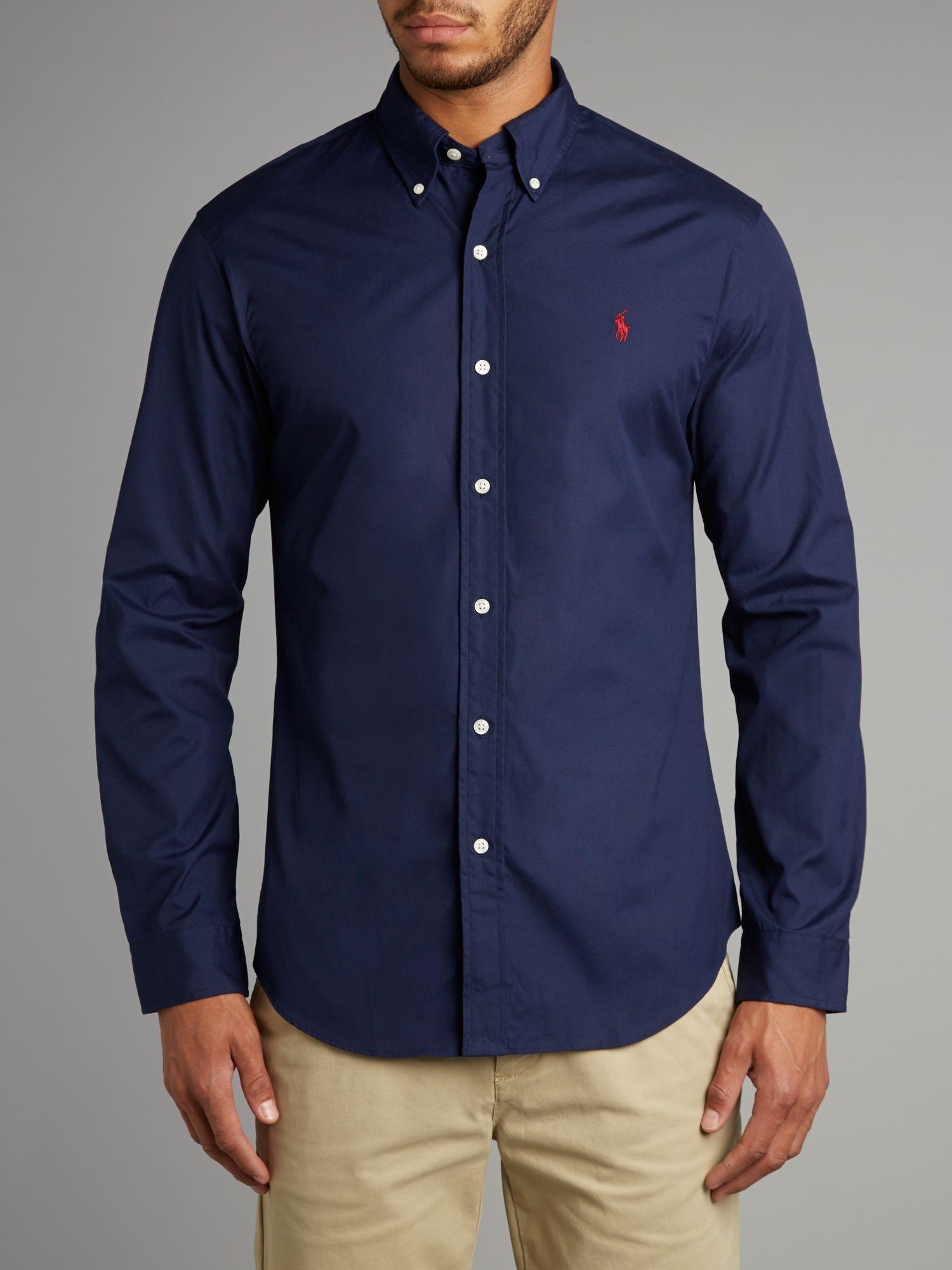 Polo Ralph Lauren Classic Long Sleeve Slim Fit Shirt In