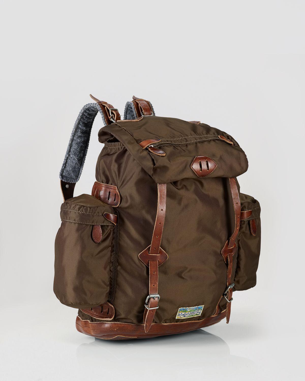 74ba8715f443 Lyst ralph lauren polo nylon utility backpack in brown for men jpg  1200x1500 Olive ralph lauren