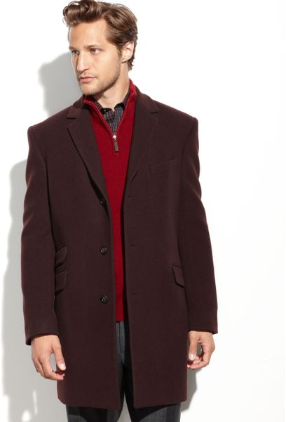 Tommy Hilfiger Bryce Cashmere Blend Overcoat In Brown For