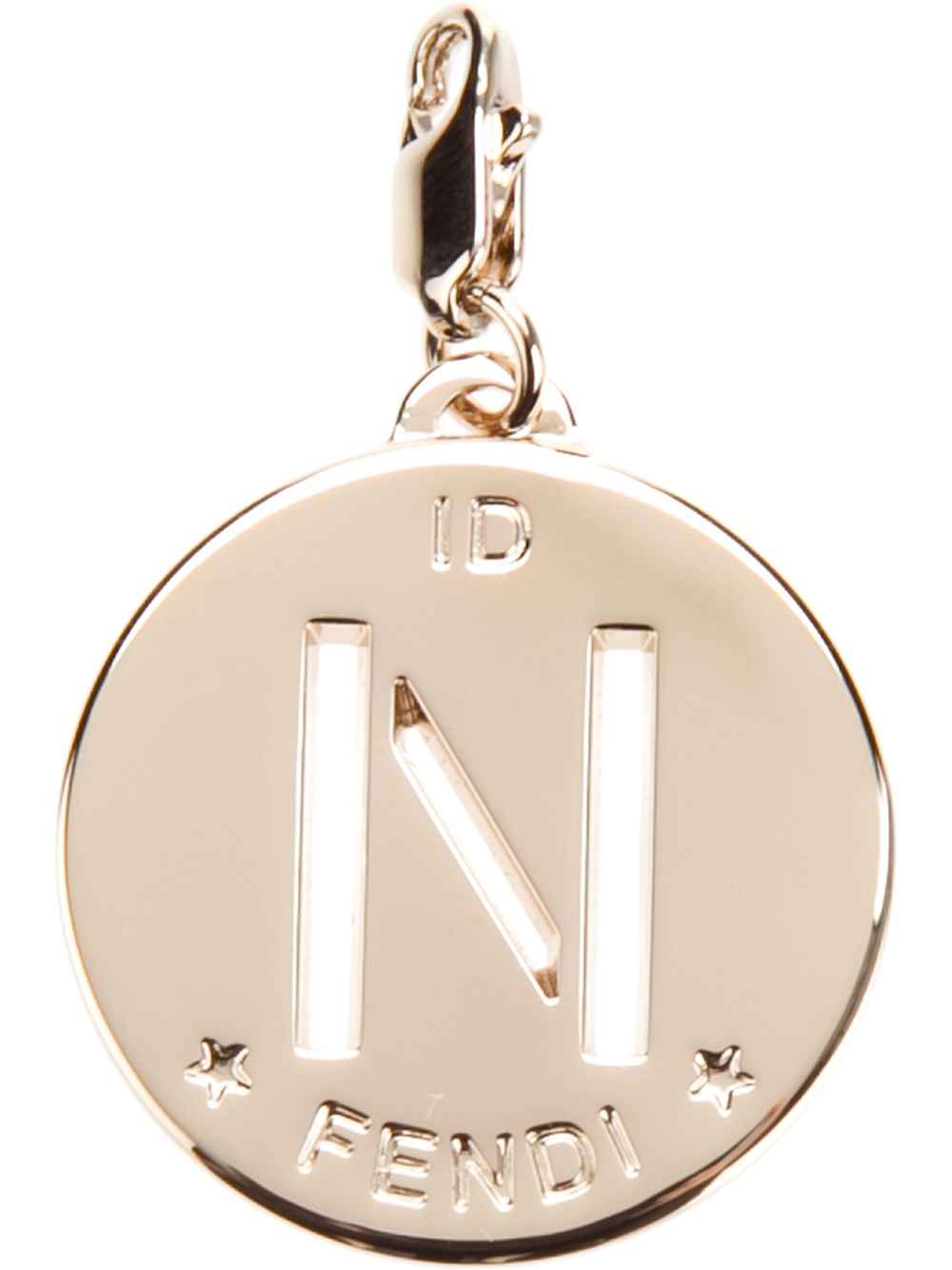 Lyst fendi n identity pendant in pink gallery aloadofball Images