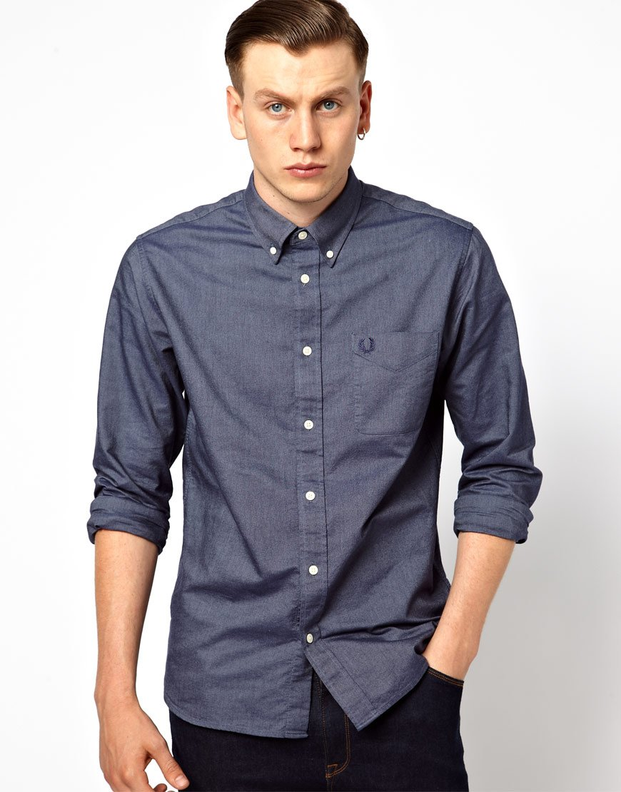 Fred Perry Classic Oxford Shirt In Blue For Men Lyst